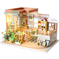 Wooden Diy Cabin Romantic Code Wood Hand made Building Model Attic Creative Hand assembled Gift