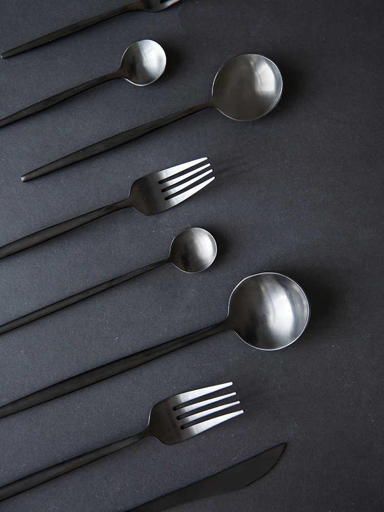 Złote i srebrne 304 ze stali nierdzewnej europejski styl zachodniej żywności nóż widelec łyżka w stylu zachodnim zastawa stołowa, do kawy do użytku domowego łyżka