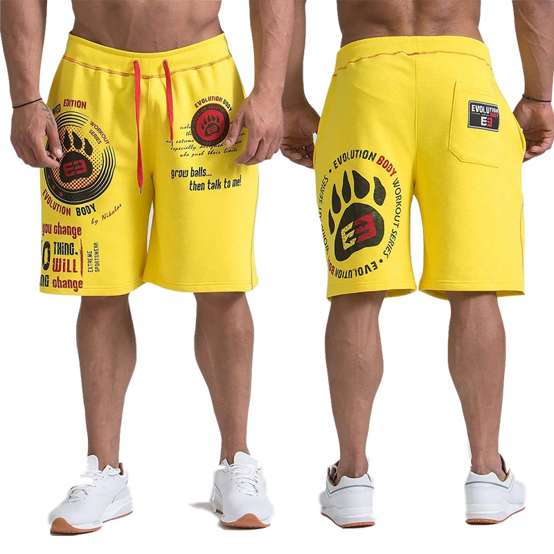 GYMS Shorts Men's Trousers 2019 Casual Jogger Mens Shorts Sweatpants Fitness Man Workout Cotton Shorts Size M-XXL