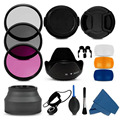 100% Professional 55mm uv cpl fld Filter Lens Hood & Cap Camera cleaning kit for Sony Alpha A390 A33 A55 A35 A65 A77 A57 A37 A99