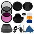 100% profesional 55 mm uv cpl fld filtro parasol y tapa cámara kit de limpieza para Sony Alpha A390 A33 A55 A35 A65 A77 A57 A37 A99
