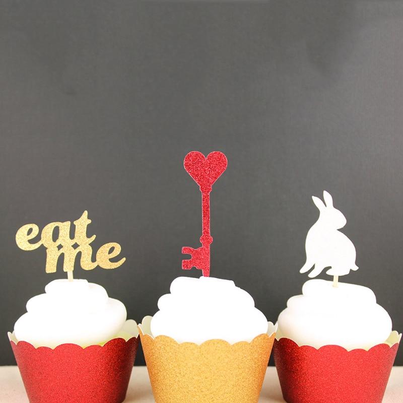 Magnificent 12 Pcs Set Lovely Creative New Alice In Wonderland Birthday Cake Funny Birthday Cards Online Alyptdamsfinfo