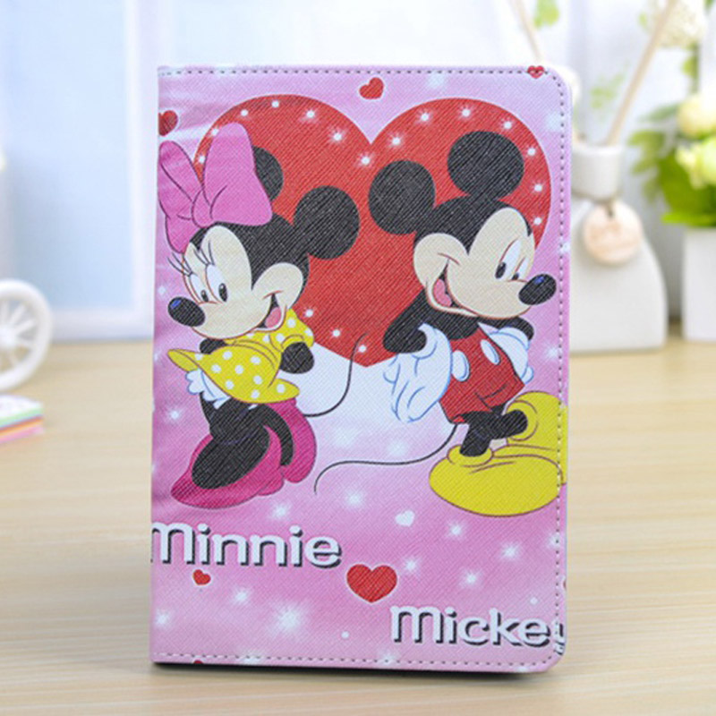 2016 new Case for Apple ipad 2 / 3 / 4 Flip stand cartoon Mickey & Minnie prints tablet Cover shell coque para housing  new arrival case for apple ipad mini 1 2 3 ultrathin flip three foldings stand pu leather tablet pc cover shell capa coque