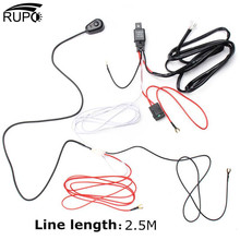 RUPO LED Work Light Bar Cable Car Auto Off Road Driving Fog Light Wiring Loom Harness Kit With On/Off Switch 2.5M 40A DC12V