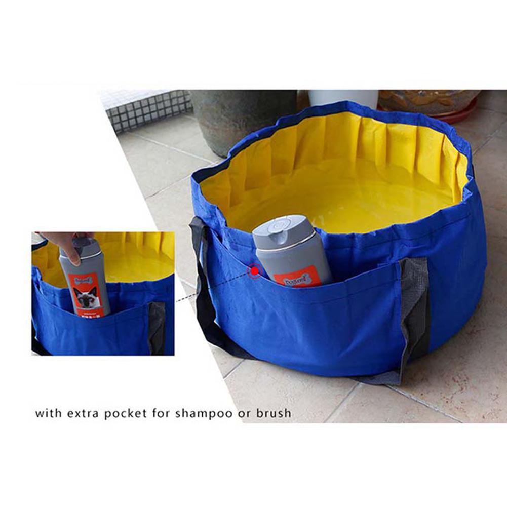Adeeing Portable pliant pour animaux de compagnie baignoire Durable étanche en plein air chien chat baignoire poche pour animaux de compagnie piscine
