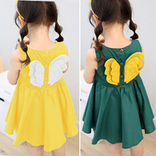 Girls Dresses Fashion Girl Dress Small Wings Design Baby Kids For Casual Wear Children Clothing