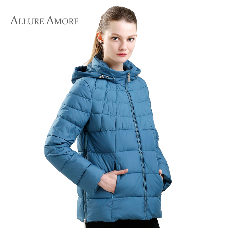 53177adfcf577 New Spring Women Jacket Plus Size Coat Women s Thin Cotton Padded Jacket  Hooded Cotton Coat women s parka Big Size Allure Amore-in Parkas from  Women s ...