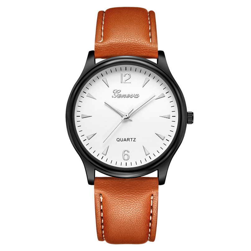 лучшая цена Fashion Simple Men Watch Casual Quartz Wristwatches Classic Business Leather Wristwatch Zegarki Meskie reloj hombre 5N