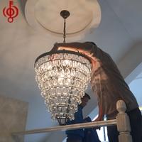 โคมไฟใหม่คริสตัลจี้ไฟนอร์ดิกห้องนั่ง