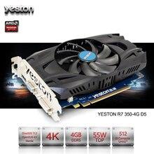 Yeston Radeon R7 350 GPU 4 GB gddr5 de $ number bits Juegos De ordenador De Escritorio PC Tarjetas Gráficas De Vídeo soporte VGA/DVI/HDMI PCI-E X16 3.0