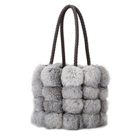 2018 Sacos de Mulheres Bolsa de Ombro Marca de Designer de Couro pu Outono Inverno cabelo coelho Seto bolsas saco Crossbody Pele