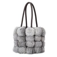 2018 Women Shoulder Bag Brand Designer pu Leather Autumn Winter Bags Seto rabbit hair handbags Skin Crossbody bag