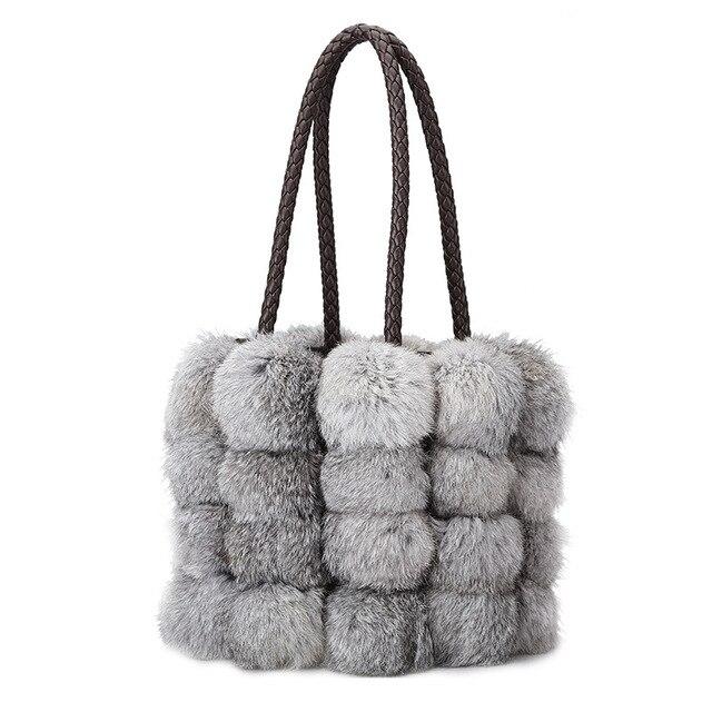 2018 женская сумка на плечо брендовая дизайнерская искусственная кожа осень-зима сумки Seto кроличья шерсть сумки кожа Сумка через плечо
