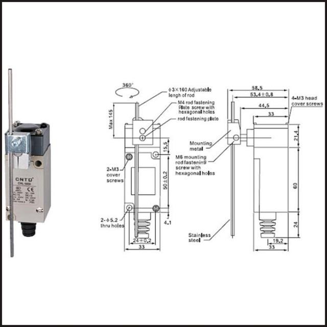 limit switch ledningsdiagram terminal 5