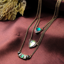 Multilayer Indian Hot Sale Designer Jewelry Summer Tide All Match Green Necklaces & Pendants