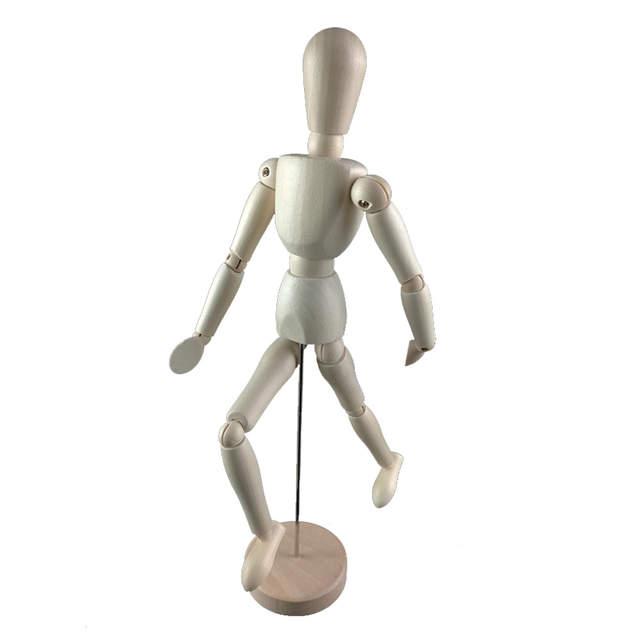 8 Polegada 22cm Madeira Corpo Humano Modelo Figura Manequim