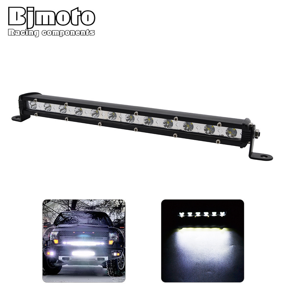 Bjmoto Offroad Auto Car 4WD Truck Tractor Boat Trailer 4x4 SUV ATV 12V 24V 18W 36W 54W Spot Flood Beam led work light bar oslamp 52 300w spot flood combo beam offroad led light bar 12v 4x4 truck trailer tractor camper tractor 24v suv vans wagon 4wd