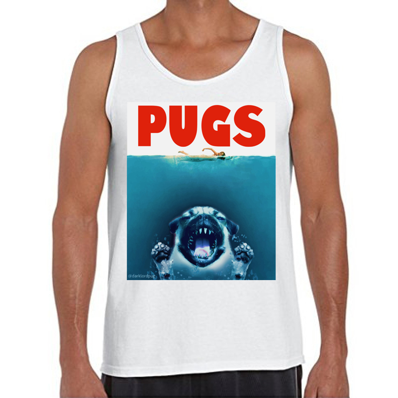 12dea5a0c05952 2018 New Fashion Pugs jaws Printed Men Tank tops O Neck Casual Vest Hipster  Animal Pug Design Singlets-in Tank Tops from Men s Clothing on  Aliexpress.com ...
