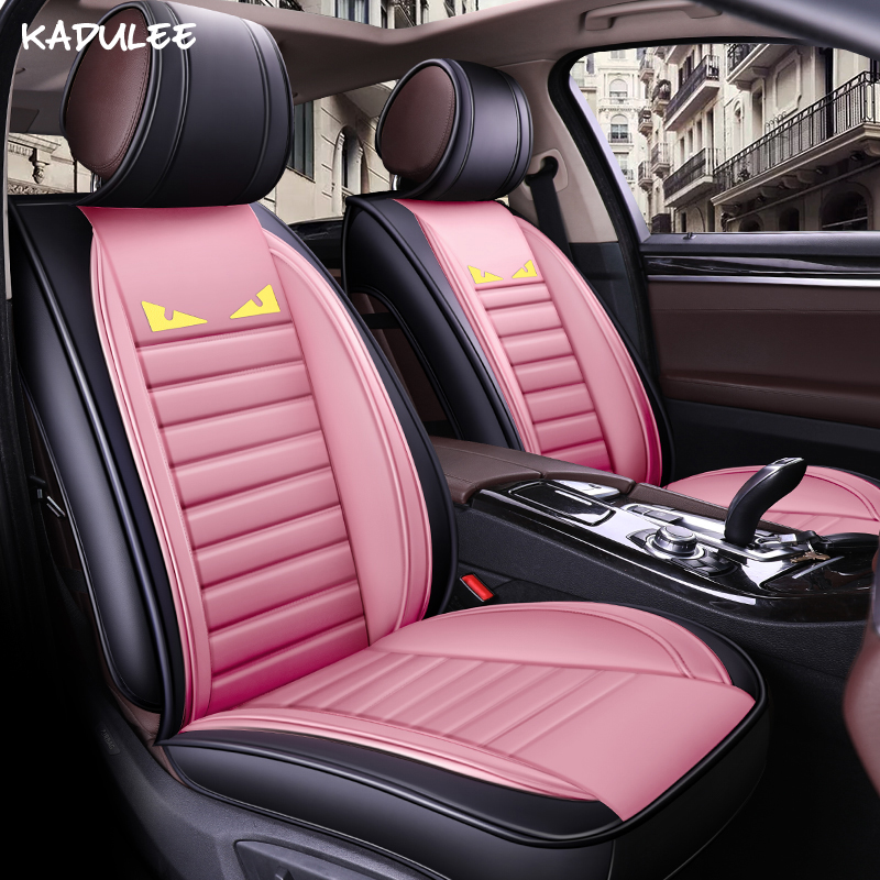 KADULEE auto car seat cover for chery tiggo t11 citroen c4 picasso ford ranger 2017 nissan tiida car seat protector car styling iec 320 pdu ups c14 male to c13 female converter extension power cable with switche switch power cord