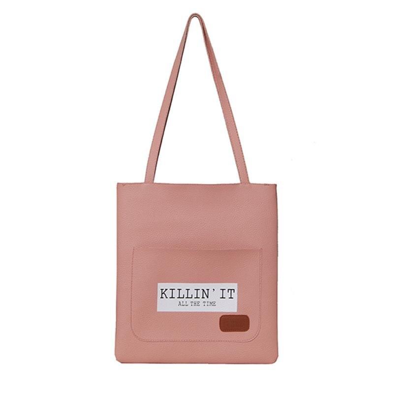 xiniu Causal Tote Bag For Women PU Leather Shoulder Bag Letter Designer Shopper Bags Luxury Top-handle Handbags Bolsos Mujer tote bag