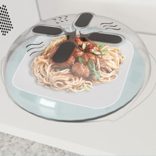 New Food Splatter Guard Microwave Hover Anti-Sputtering Cover Oven Oil Cap Heated Sealed Plastic Dish Dishes