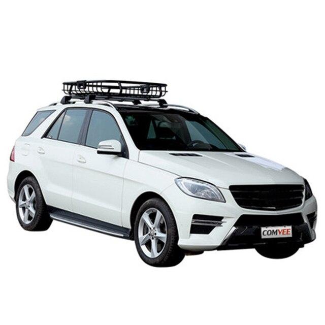 Universal Auto Car Roof Rack Cross Bar Cargo Basket Outdoor Rooftop Luggage  Carrier Load 100kg Racks