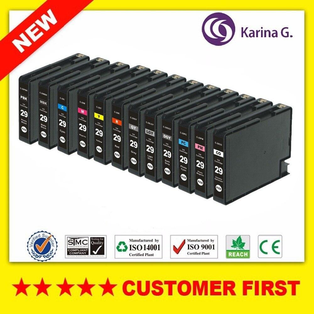1set compatible ink cartridge for PGI-29 PGI29 PGI 29 For Canon pixma PRO-1 High quality free shipping pgi29 pgi