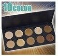 10 Color de Mineral Pigmento Delineador de ojos Crema de Sombra de Ojos Paleta de Maquillaje de Ojos Ahumados Con Cepillo Al Por Mayor