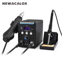 NEWACALOX 8586 220V 700W Lead Free Soldering Station BGA Rework SMD Hot Air Gun Heat Eletric