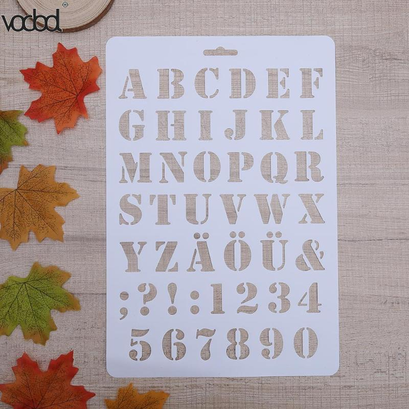 Letter Alphabet Number Layering Stencils For Wall Scrapbooking Painting Template Stamps Photo Crafts Decor Plastic Pochoir Card