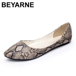 Image 1 - BEYARNE Classic street fashion women all match comfortable shallow mouth pointed toe single shoes female flat plus size shoes