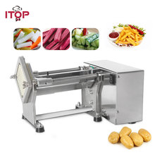 Купить с кэшбэком ITOP New Electric French Fries Cutter Potato Chip Carrot Cutter Slicer Stainless Steel Vegetable Fruit Shredding Machine