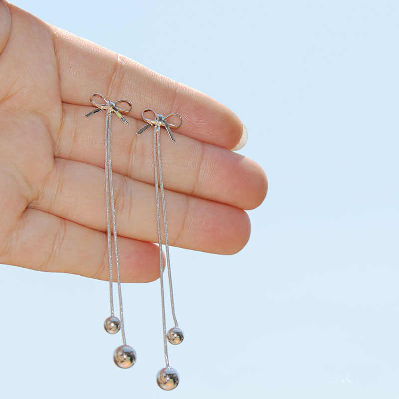 JIOFREE The new arrival Sterling silver 925 Long Chain Tassel Clip on Earrings Without Piercing For Women valentine gift