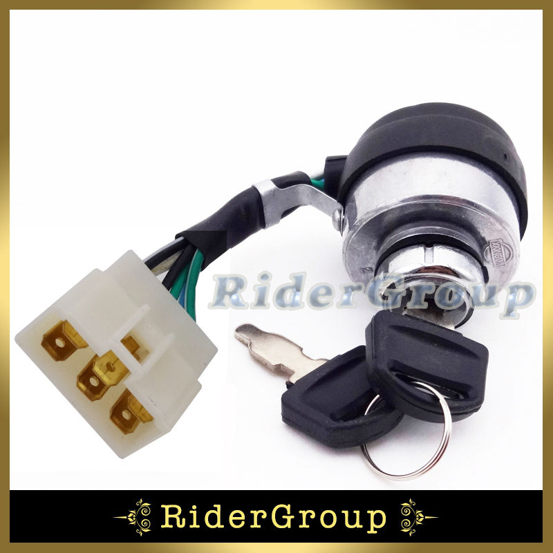6 wire on off kill ignition switch key for gasoline. Black Bedroom Furniture Sets. Home Design Ideas