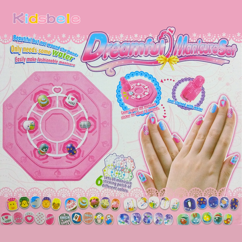 Nail Art Games For Girls On The App Store: Girl Nail Stickers DIY Kids Toys For Children PVC Manicure