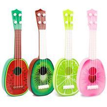 32CM Children Kids Learn Guitar 4 String Ukulele Creative Cute Mini Fruit Can Play Musical Instruments Color Random