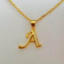 "new york Gold-Tone Alphabet Pendant Necklace, 18"" Letter A B C D E F G H I J K L M N O P Q I S T U V W X Y Z Pendant Necklace"