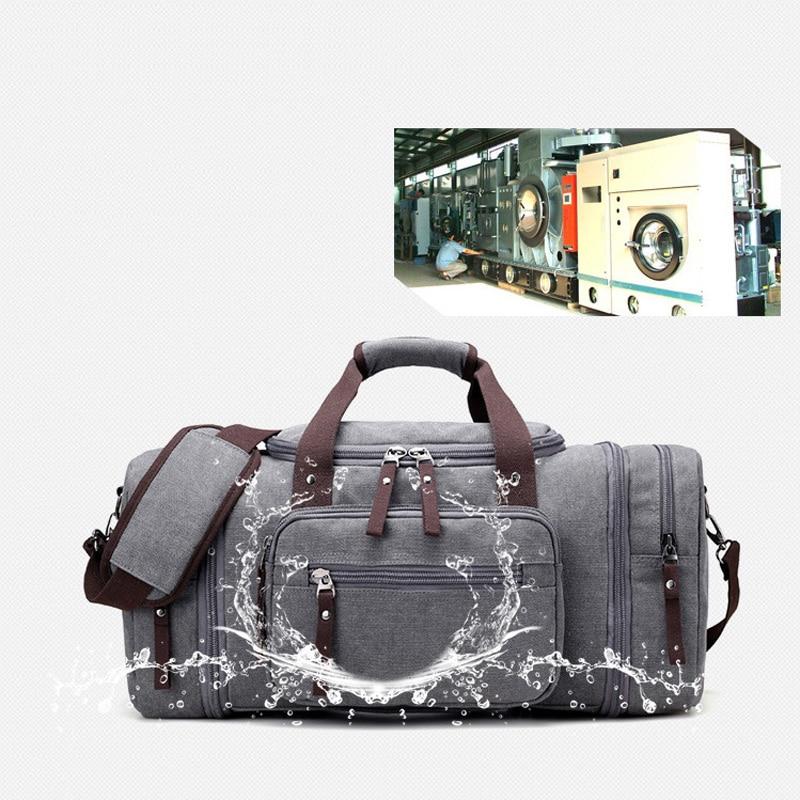 Bolsa de deporte de viaje para hombre de gran capacidad para llevar equipaje de mano, bolsas de lona de viaje, bolsas de viaje, bolsas de gimnasio de fin de semana grandes para hombres - 2