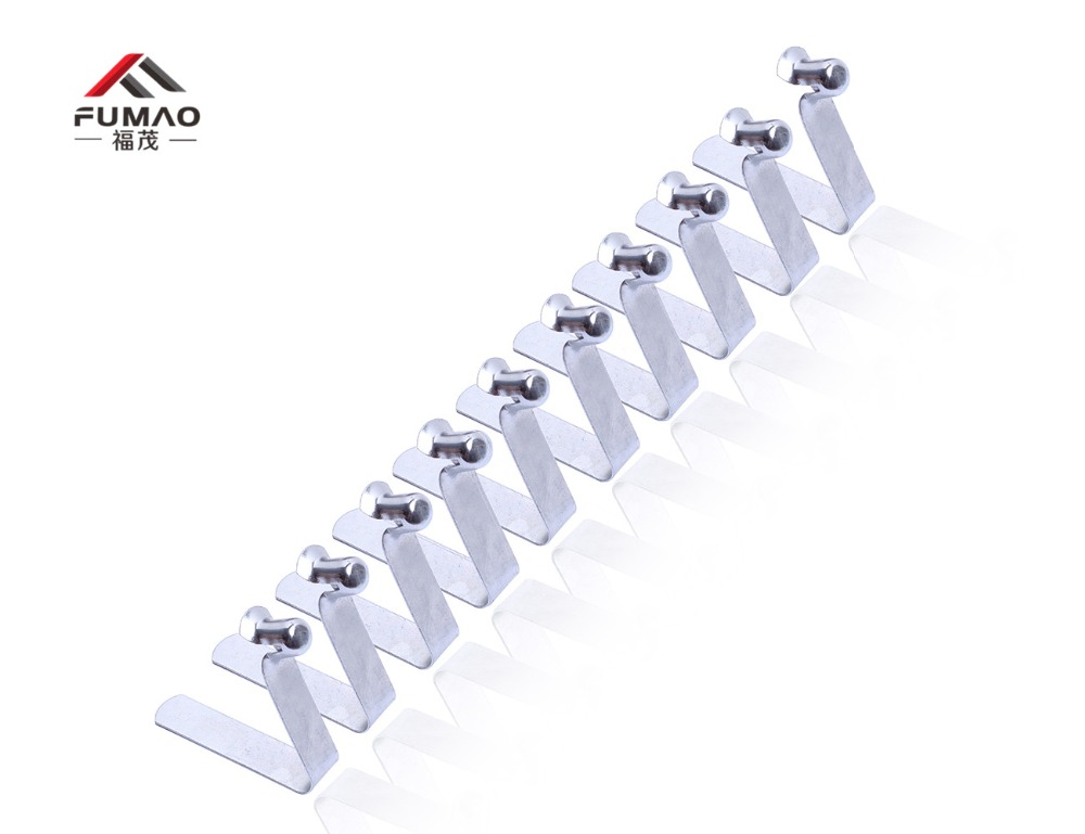 Купить с кэшбэком Manufacture galvanized tube spring clips for Tubing Spring Clips Clamp, push Spring button clip used for 20-25mm tube