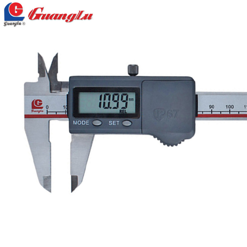 ФОТО GUANGLU Digital Caliper 0-150mm/0.01 Stainless Steel Waterproof IP67 Paquimetro Electronic Dust-Proof/Proof-Oil Pie De Rey