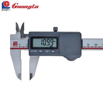 GUANGLU-calibrador Digital De acero inoxidable, resistente al agua, De 0 a 150mm/0,01,...