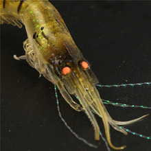 6Pcs/lot Noctilucent Soft Silicone Simulation Prawn Shrimp Luminous Soft Fishing Lure Artificial Bait Fishing Tackles
