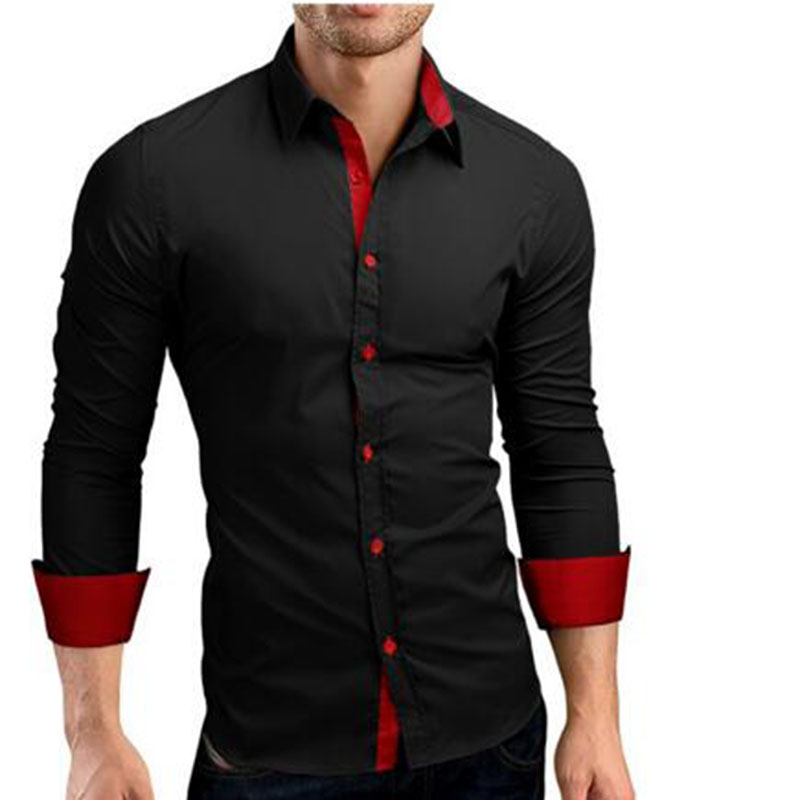 Men Slim Fit High Quality Pure Cotton Poplin Casual Shirts Camisa Mixed Color Breathable Single Breasted Shirts Tops Size M 3XL in Casual Shirts from Men 39 s Clothing