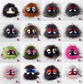 Freeshipping Fashion funny eyes cute grimace little monster plush toys fox fur raccoon fur bag pendant accessories Karlito