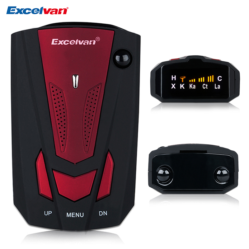 Excelvan 360 Degree v7 Car Radar Detector Anti Police Full 16LED Band Speed Safety Scanning Advanced Voice Alert Warning
