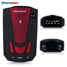 Excelvan 360 Degree v7 Car Radar Detector Anti Police Full 16LED Band Speed Safety Scanning Advanced Voice Alert Warning