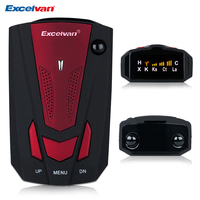 Excelvan 360 Degree Car V7 Radar Detector Anti Police Full 16 Band Red Speed Safety Scanning