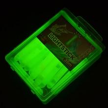 120pcs/lot Glowing Fluorescent Fishing Light Stick Fishing Luminous Float 4.5*39mm Night Fishing Float For Carp Fishing