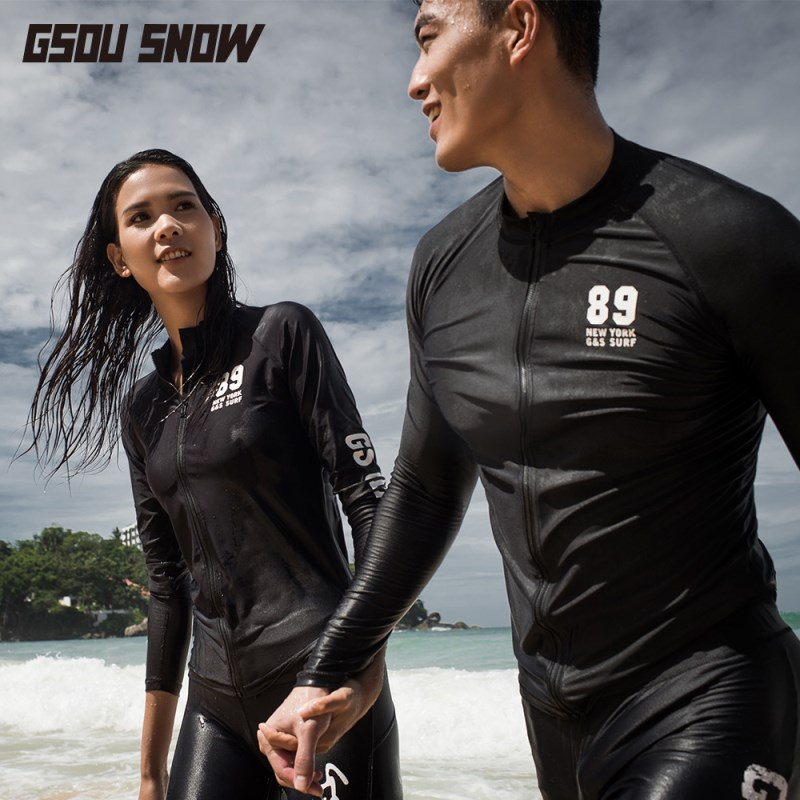GSOU SNOW Brand Wetsuit Men Women Diving Suit Swimsuit for Lovers Quick Dry High Elasticity Swimwear Swimming Surfing Warm Suit lifurious wetsuits women surfing neoprene surf swimsuit wetsuit for swimming women pink swimwear surfing diving suit long sleeve