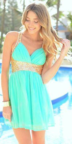 Online Get Cheap Mint Green and Gold Prom Dress -Aliexpress.com ...